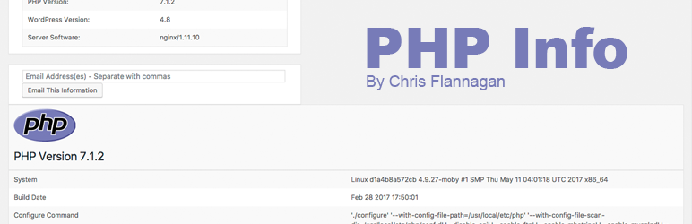 Version 16.1 of WordPress PHP Info Released